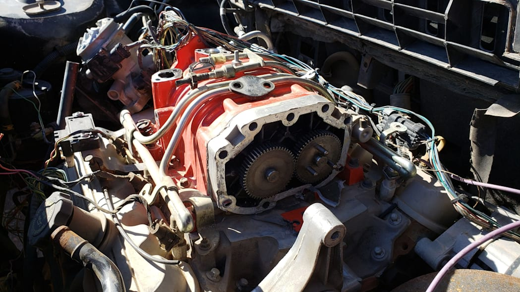 16 - 1984 Pontiac Fiero in Colorado junkyard - photo by Murilee Martin