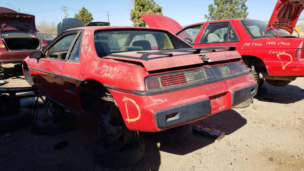 35 - 1984 Pontiac Fiero in Colorado junkyard - photo by Murilee Martin