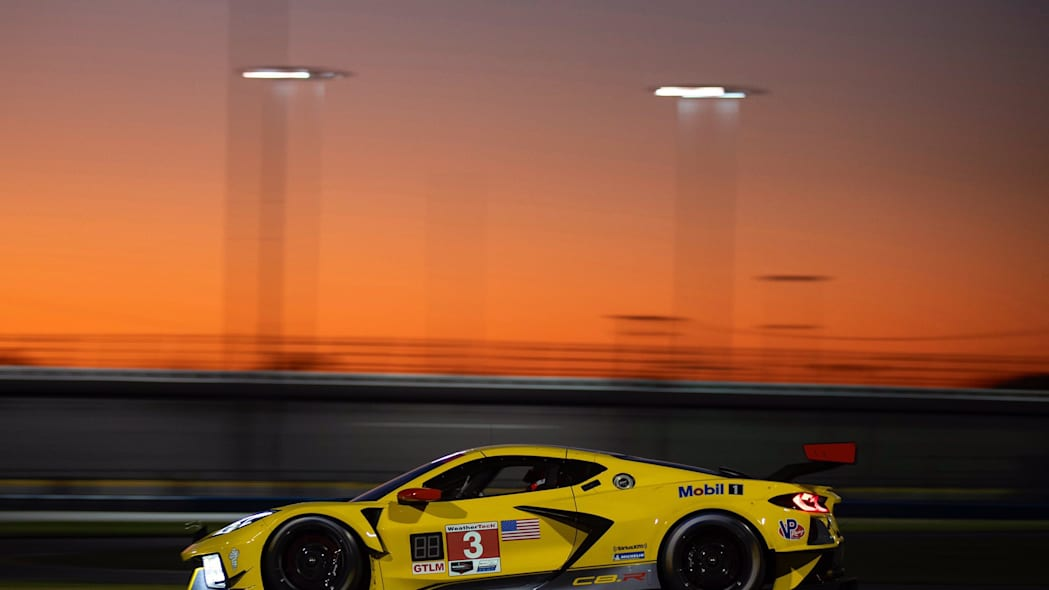 Chevrolet Corvette C8.R yellow race car