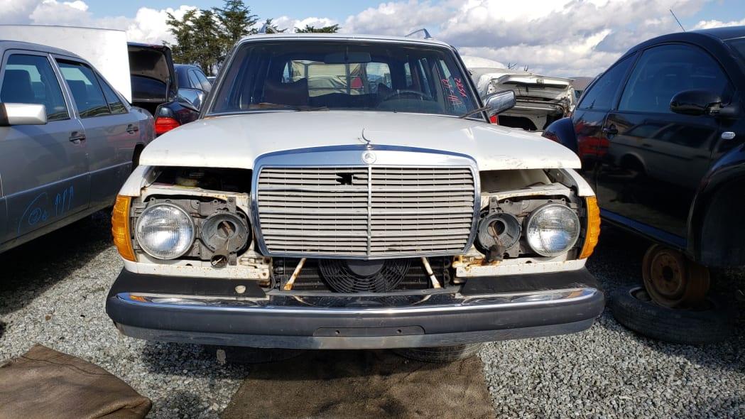 34 - 1979 Mercedes-Benz 300TD in California junkyard - photo by Murilee Martin