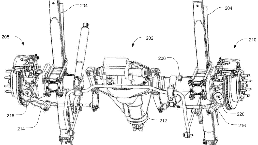 Ford four-wheel steering patent drawing