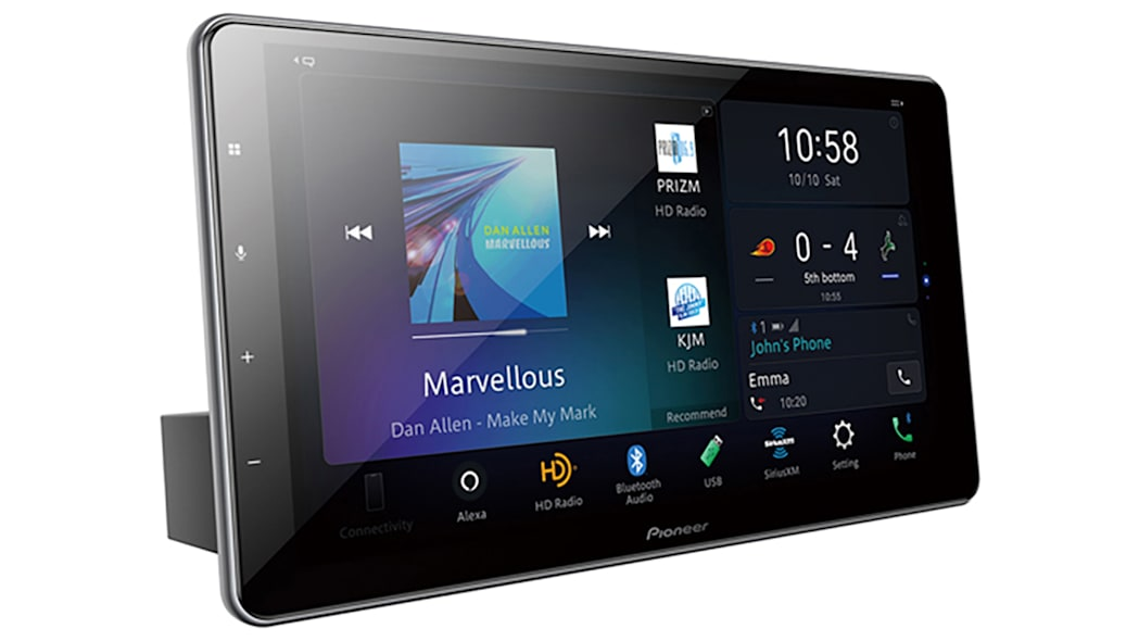 Pioneer's 10.1-inch flagship car infotainment tablet has Alexa and wireless CarPlay