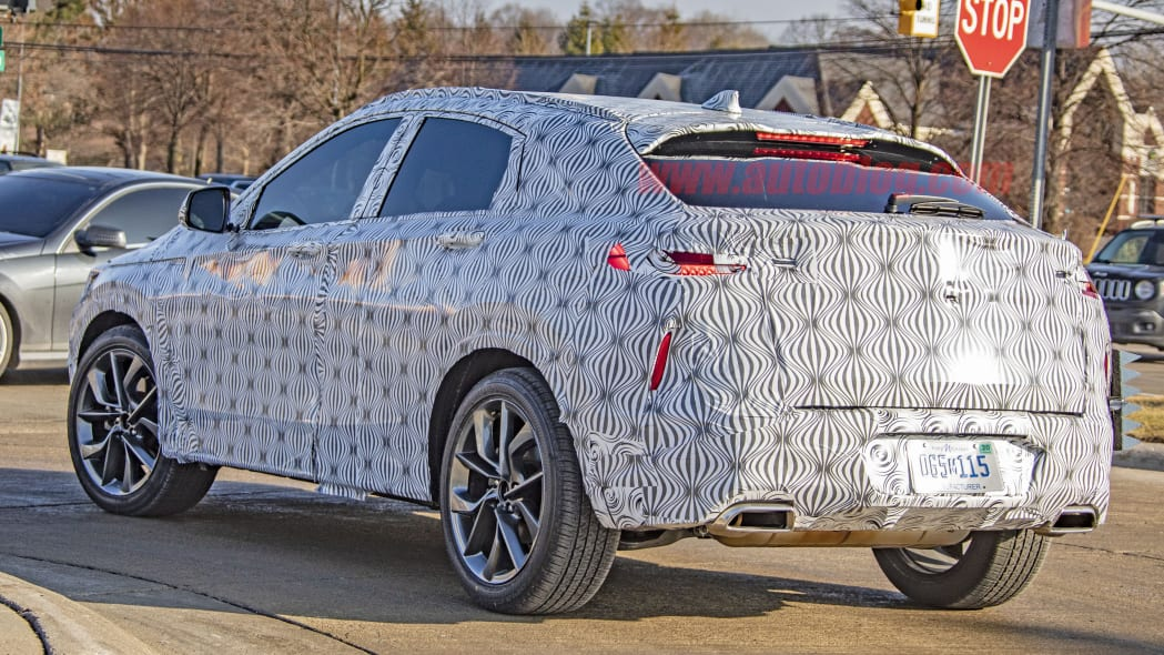 Infiniti QX55 spied for the first time looking sleek
