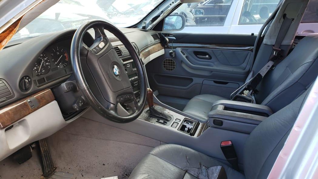 03 - 1998 BMW 740iL in California junkyard - photo by Murilee Martin