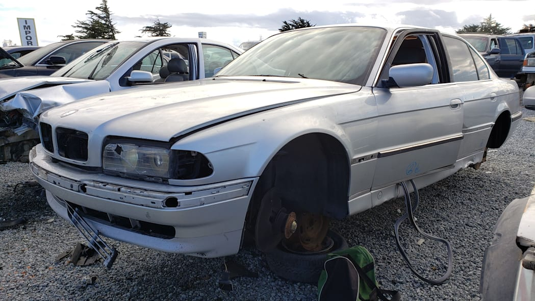 14 - 1998 BMW 740iL in California junkyard - photo by Murilee Martin