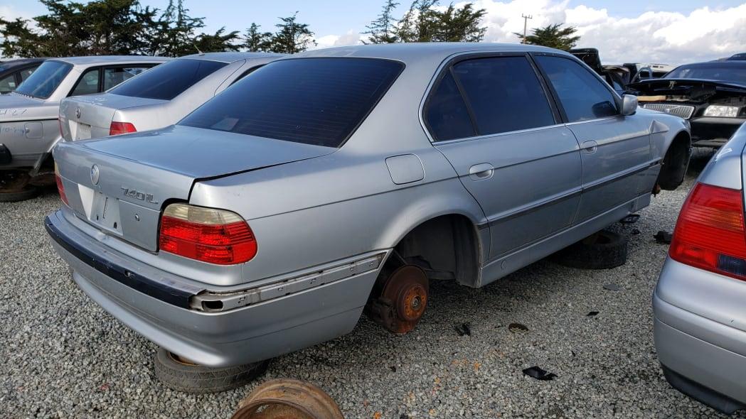 23 - 1998 BMW 740iL in California junkyard - photo by Murilee Martin
