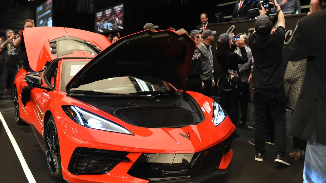 2020 Corvette Stingray VIN 0001 was auction for $3 million at Ba