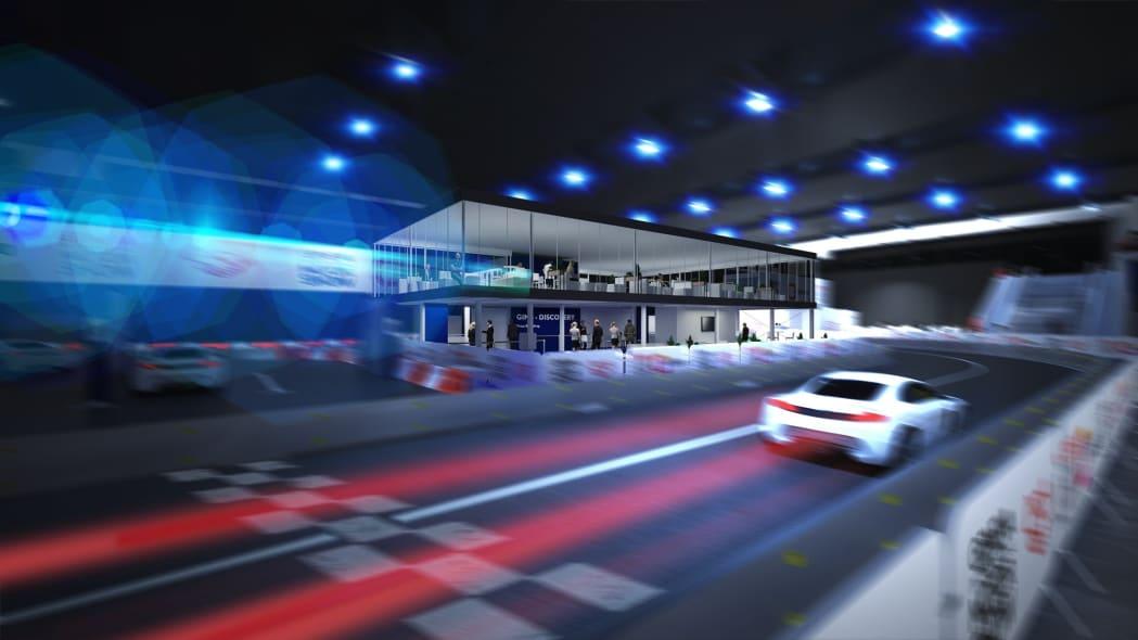 2020 Geneva Auto Show indoor race track