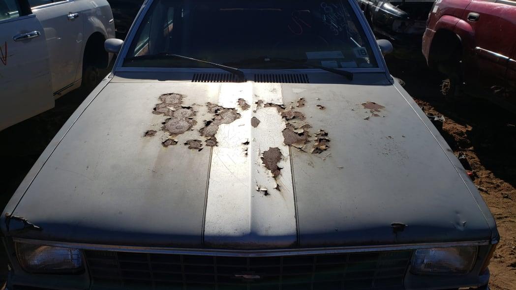 18 - 1981 Chevrolet Citation in Colorado junkyard - photo by Murilee Martin