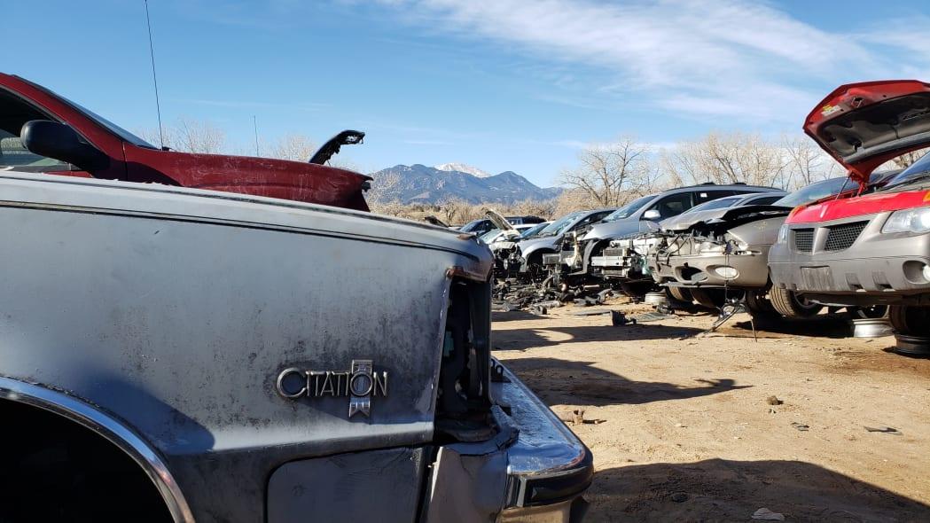 33 - 1981 Chevrolet Citation in Colorado junkyard - photo by Murilee Martin