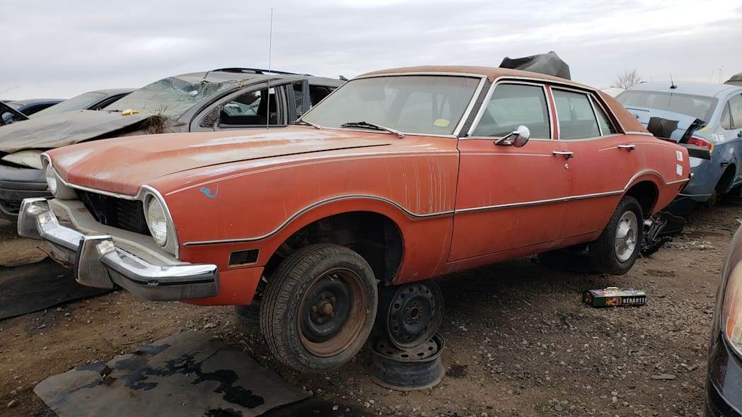 00 - 1973 Ford Maverick in Colorado junkyard - Photo by Murilee Martin