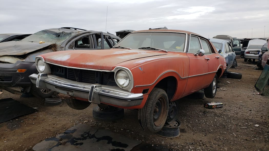 43 - 1973 Ford Maverick in Colorado junkyard - Photo by Murilee Martin