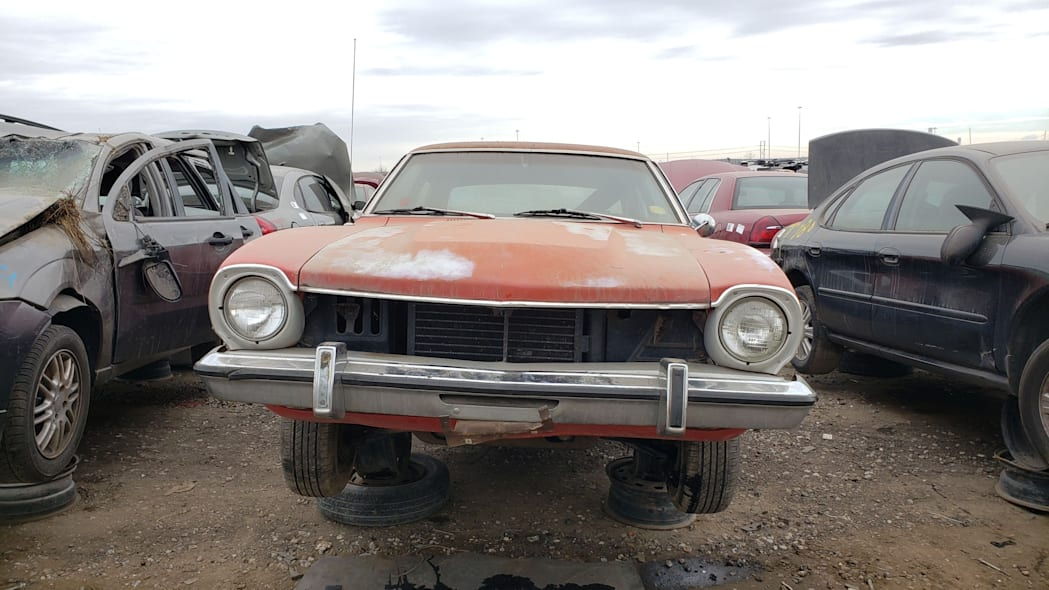 45 - 1973 Ford Maverick in Colorado junkyard - Photo by Murilee Martin
