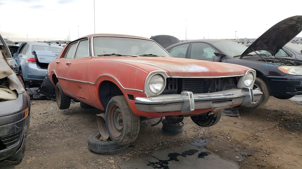 47 - 1973 Ford Maverick in Colorado junkyard - Photo by Murilee Martin