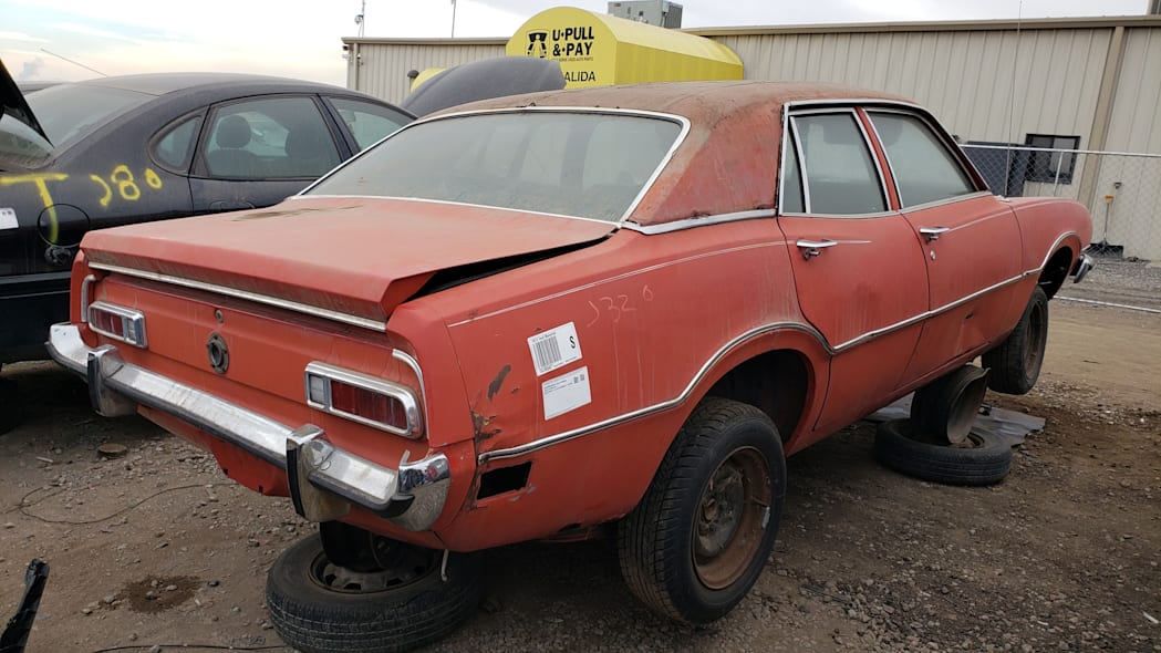 51 - 1973 Ford Maverick in Colorado junkyard - Photo by Murilee Martin