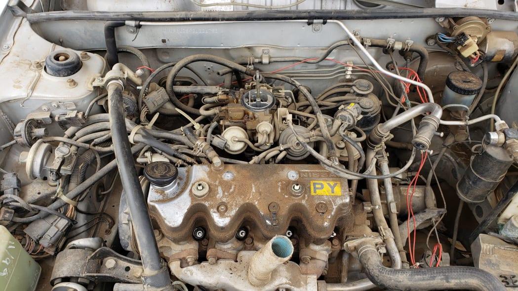 03 - 1986 Nissan Sentra in Colorado junkyard - Photo by Murilee Martin