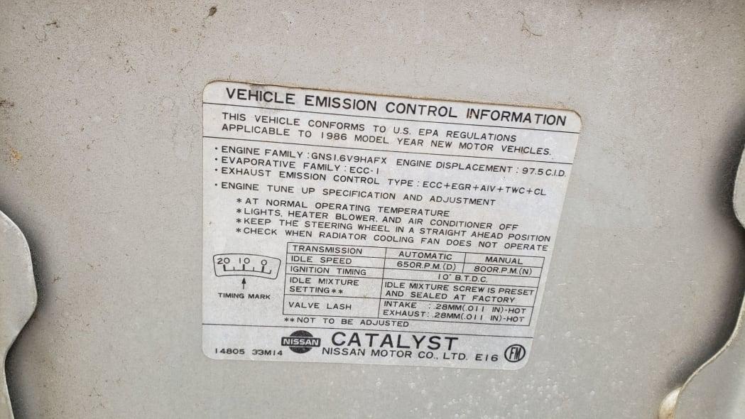 05 - 1986 Nissan Sentra in Colorado junkyard - Photo by Murilee Martin