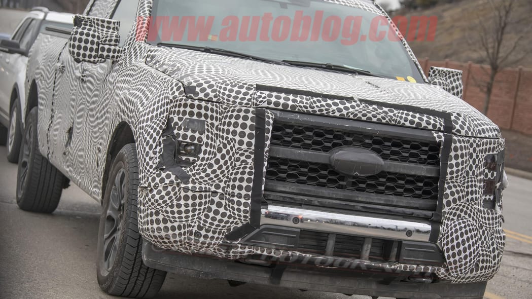 2021 Ford F-150 grille spy shots