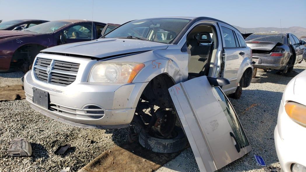 13 - 2007 Dodge Caliber in California junkyard - photo by Murilee Martin