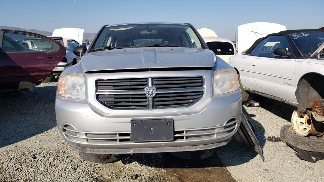 14 - 2007 Dodge Caliber in California junkyard - photo by Murilee Martin