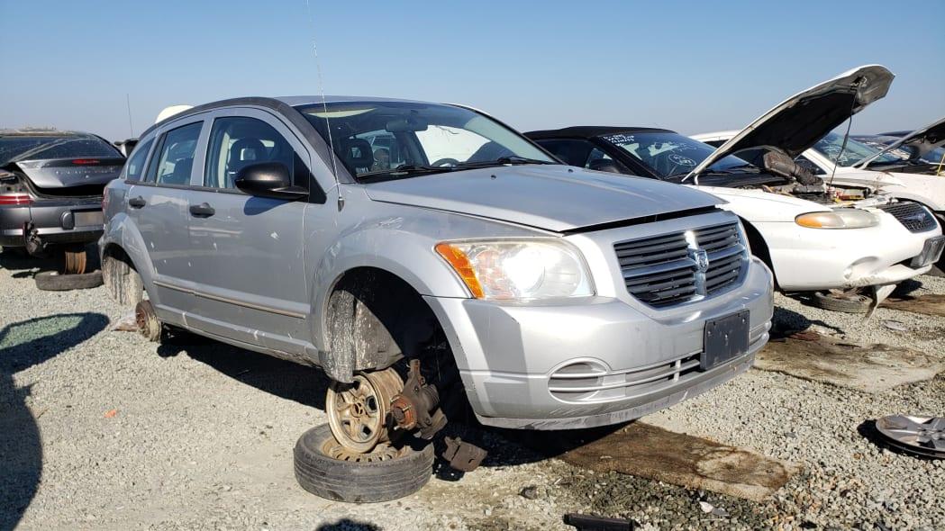 17 - 2007 Dodge Caliber in California junkyard - photo by Murilee Martin