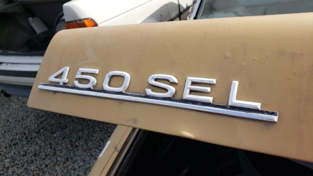12 - 1974 Mercedes-Benz 450SEL W116 in California junkyard - photo by Murilee Martin