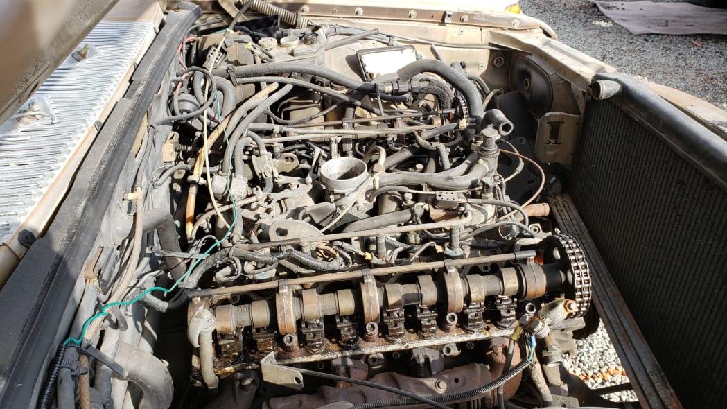 23 - 1974 Mercedes-Benz 450SEL W116 in California junkyard - photo by Murilee Martin