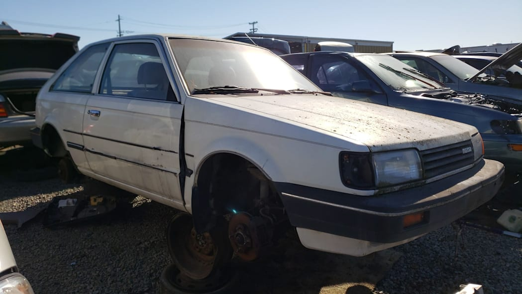 00 - 1986 Mazda 323 in California junkyard - photo by Murilee Martin
