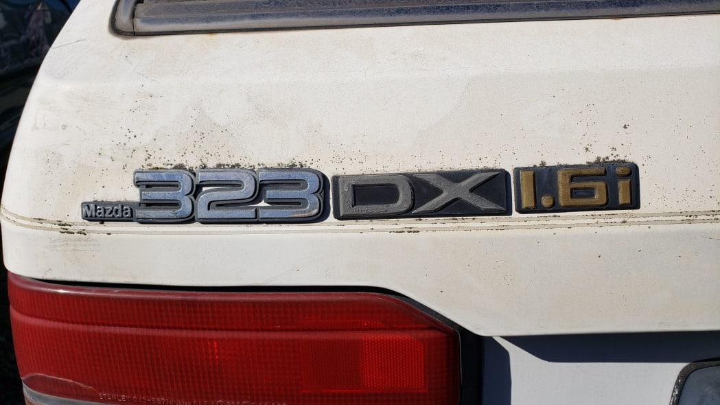 22 - 1986 Mazda 323 in California junkyard - photo by Murilee Martin