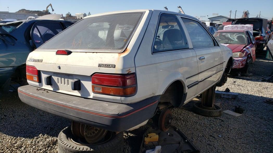 39 - 1986 Mazda 323 in California junkyard - photo by Murilee Martin