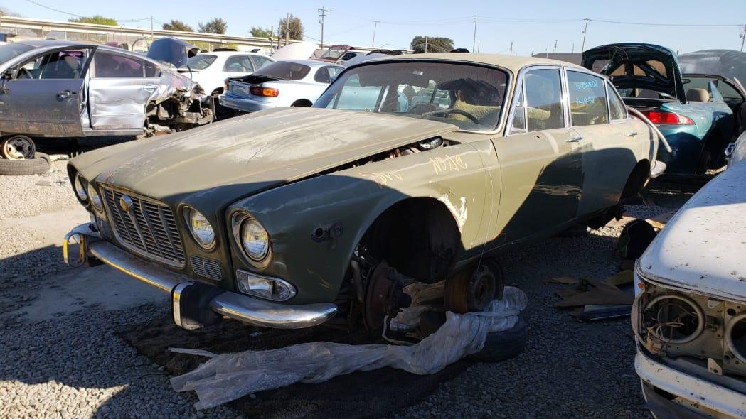 29 - 1973 Jaguar XJ6 in California junkyard - photo by Murilee Martin