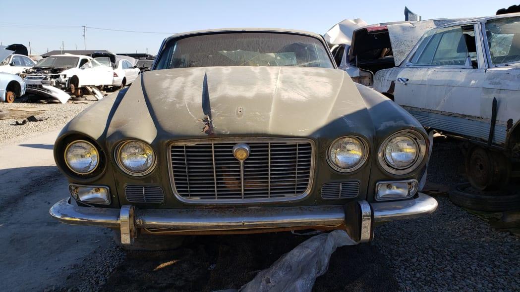 33 - 1973 Jaguar XJ6 in California junkyard - photo by Murilee Martin