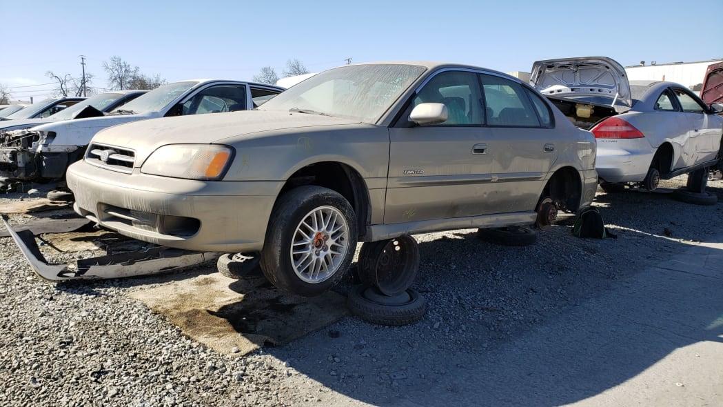 00 - 2000 Subaru Legacy GT in California junkyard - photo by Murilee Martin