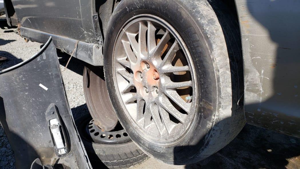 31 - 2000 Subaru Legacy GT in California junkyard - photo by Murilee Martin