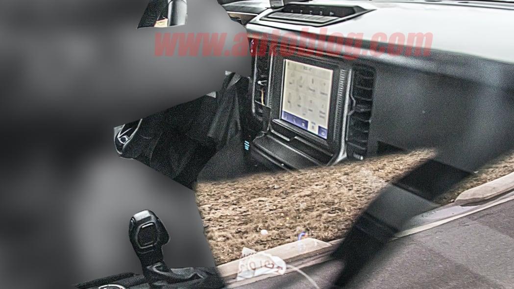 2021 Ford Bronco interior spy photo