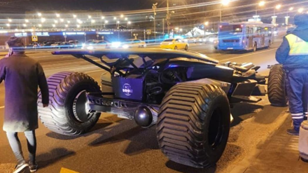 Batmobile in Moscow
