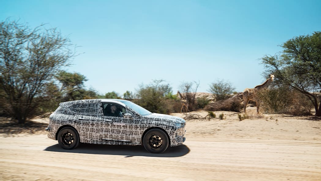 BMW iNext hot weather testing