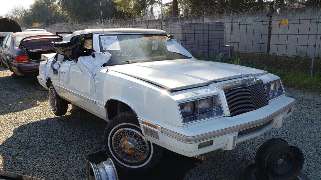 00 - 1982 Chrysler LeBaron convertible in California junkyard - photo by Murilee Martin