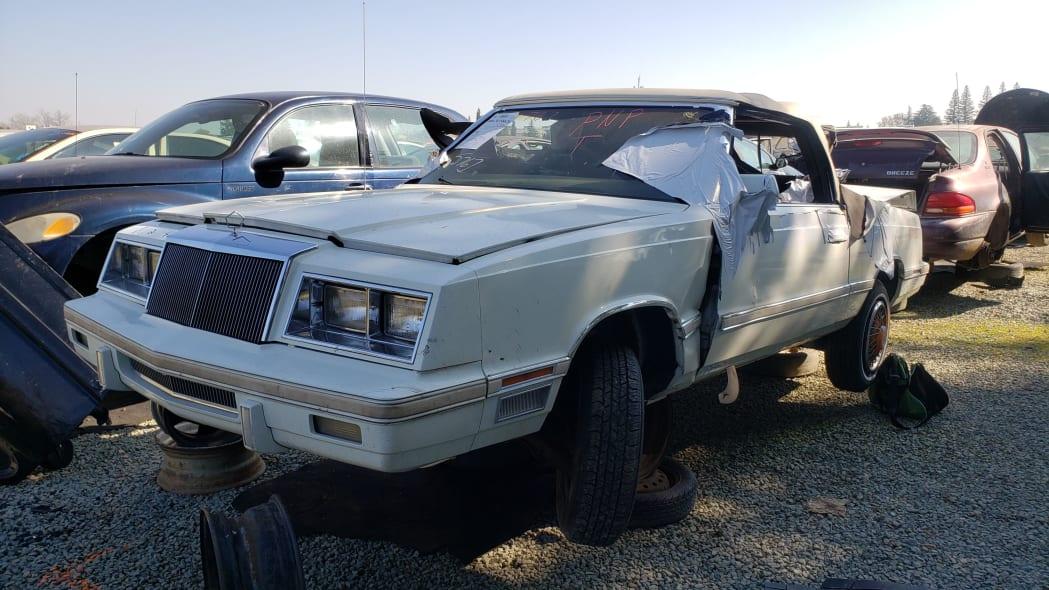 19 - 1982 Chrysler LeBaron convertible in California junkyard - photo by Murilee Martin