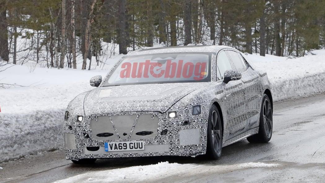 Jaguar XJ electric spy shot