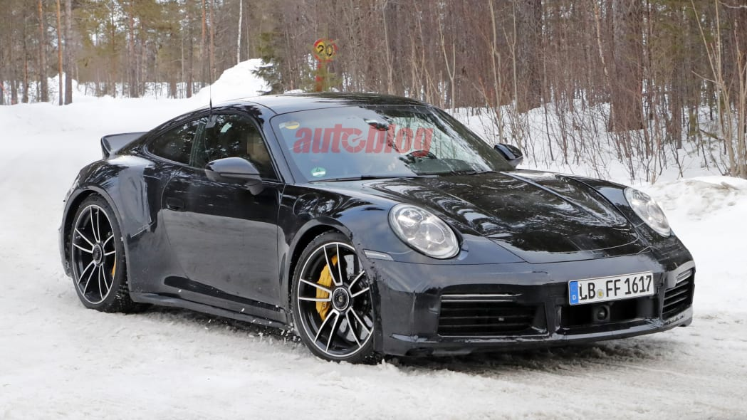 Porsche 911 Turbo with ducktail spoiler