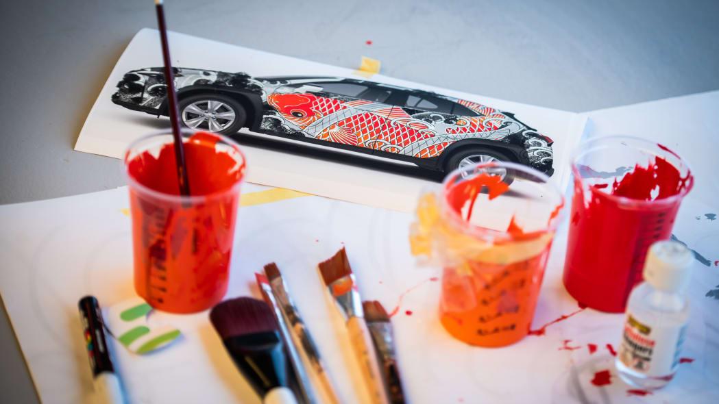 Lexus UX tattooed art car