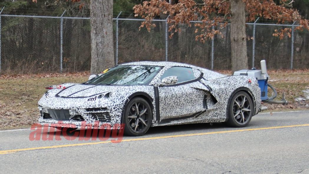 C8 Corvette spy photo