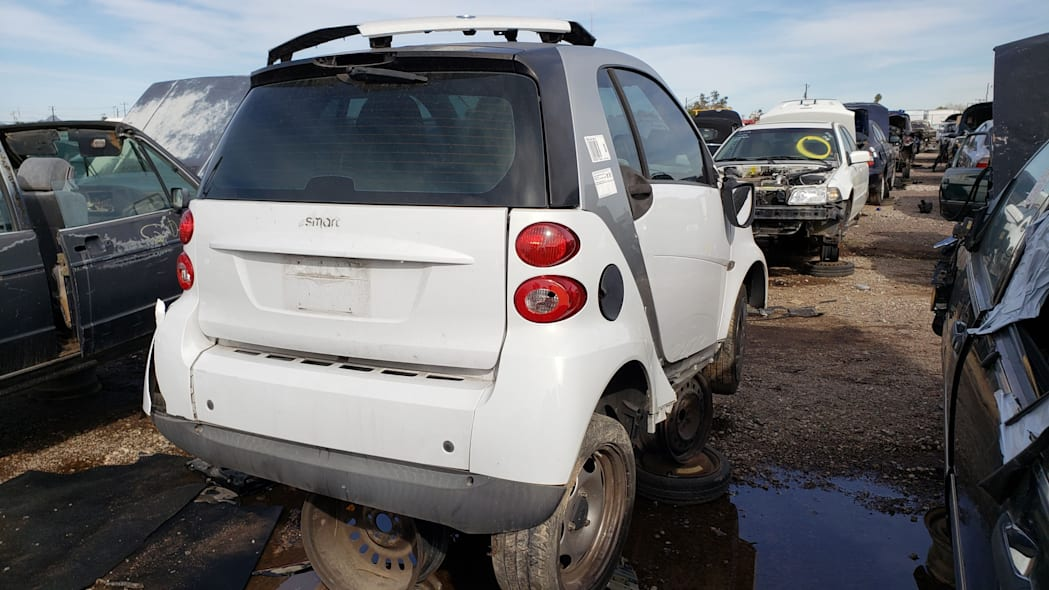 26 - 2009 Smart ForTwo in Arizona Junkyard - photo by Murilee Martin