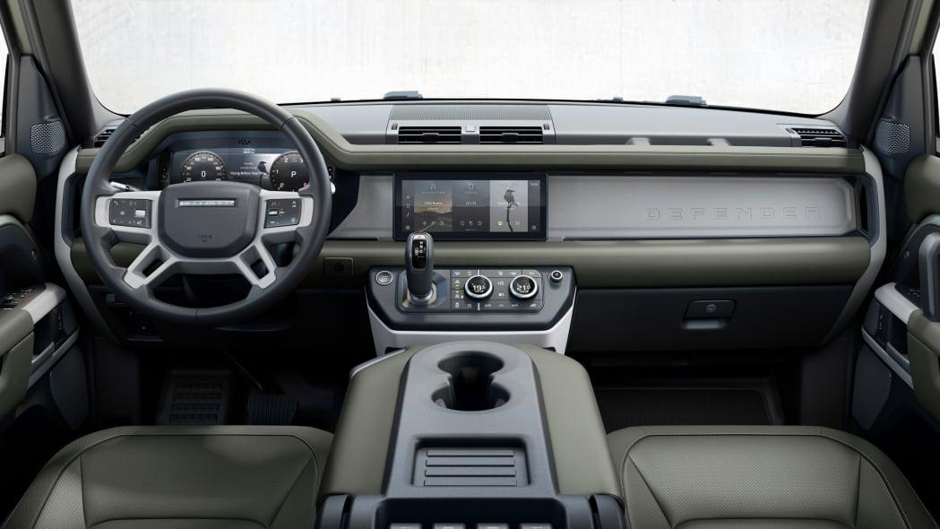 2020 Land Rover Defender 110 dash green
