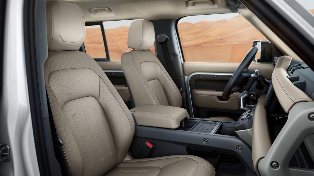 2020 Land Rover Defender 110 interior beige