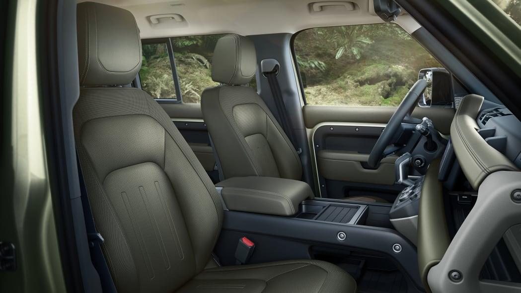 2020 Land Rover Defender 110 interior green
