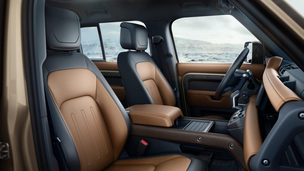 2020 Land Rover Defender 110 interior two tone
