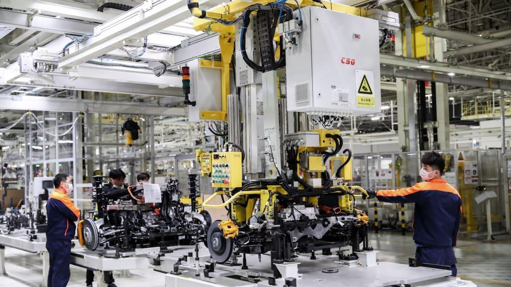 Polestar 2 assembly line