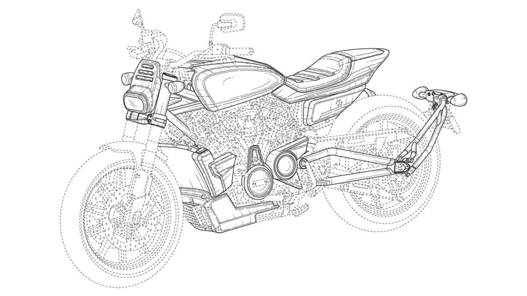 Harley-Davidson flat track patent drawing